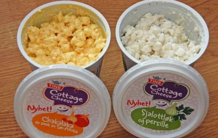 Matspaneren ny cottage cheese med tilsatt smak vektklubb for Med cottages