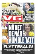 forsiden på VG i dag