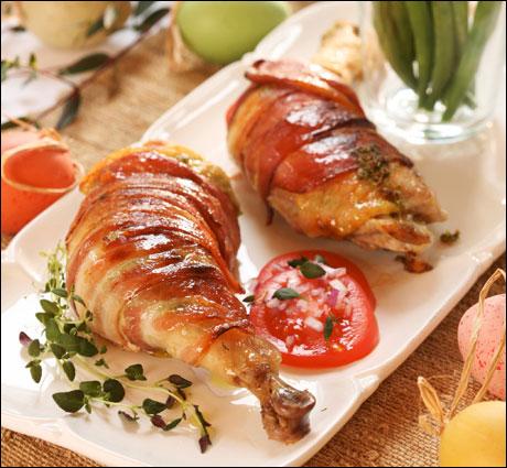 Kyllinglår med pepperrot- og gressløksmør