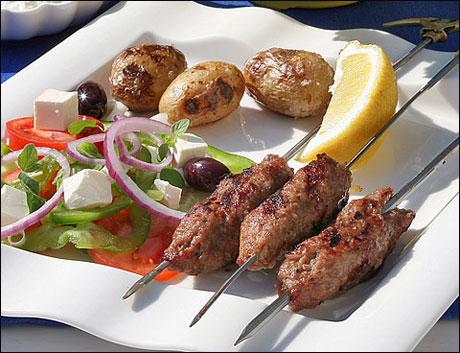 Tyrkisk kebab (Sis köftesi)