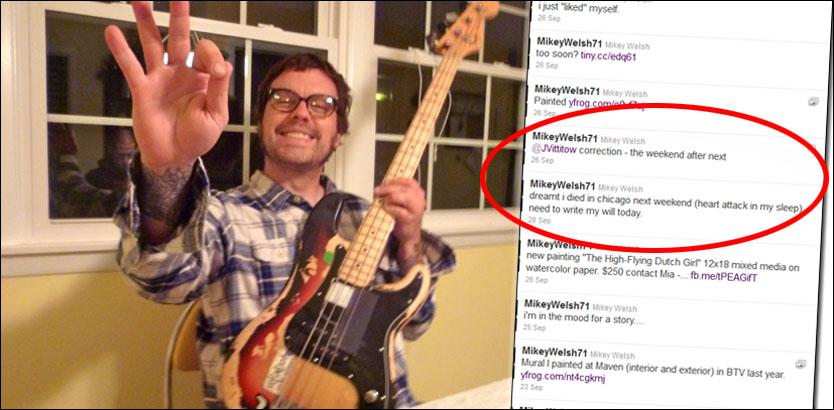 Mikey Welsh – Weezer-bassist (40) spådde sin egen død, og han døde i helgen! thumbnail