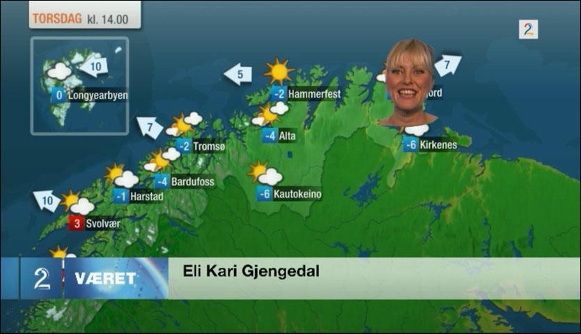 GJENNOMSIKTIG: Eli Kari Gjengedal avsluttet med en kjole som gjorde henne gjennomsiktig for seerne. Foto: Faksimile.
