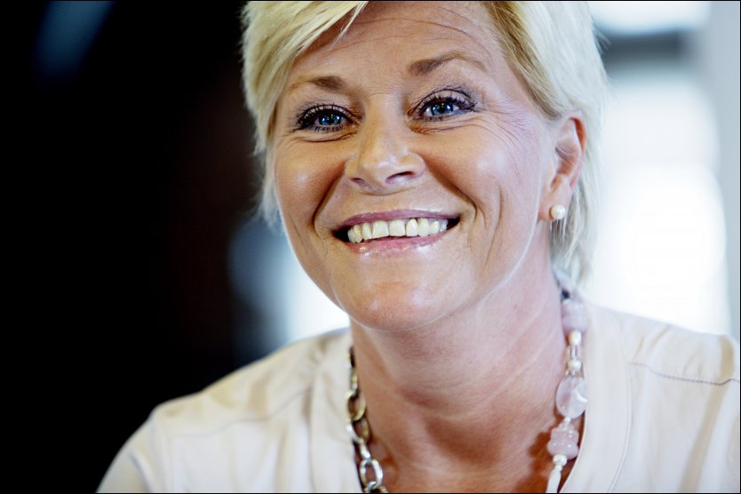 LEI AV FORBUDSTATEN: Frp-leder Siv Jensen er oppgitt over r&oslash;dgr&oslash;nne utspill og norsk lovgiving. Foto: NTB scanpix