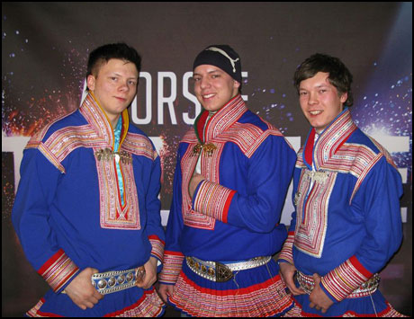 Photo of the Sami rap group Duolva Duottar