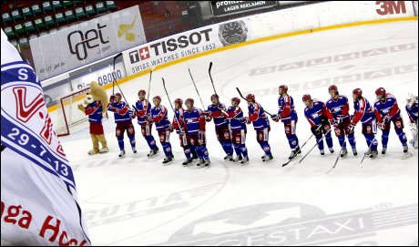 MESTERE: V&aring;lerenga sikret seriegullet med 2-1-seier over Lillehammer fredag kveld. Foto: Scanpix