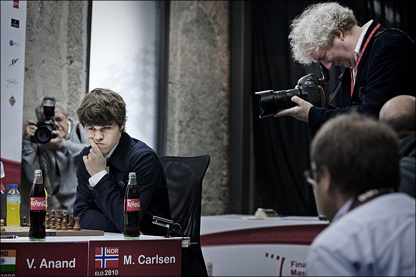 DROPPER VM: Magnus Carlsen er sv&aelig;rt misforn&oslash;yd med en del av opplegget rundt VM og sier &laquo;nei takk&raquo;. Foto: J&oslash;rgen Braastad