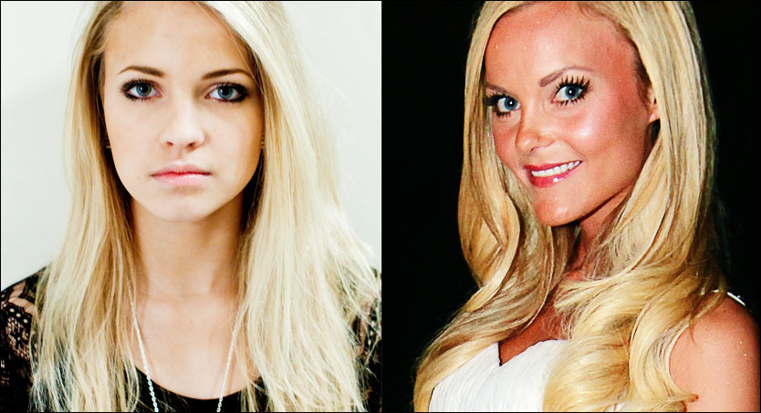 BLOGGERE: Emilie &laquo;Voe&raquo; Nereng og Caroline &laquo;fotballfrue&raquo; Berg Eriksen. Foto: Sara Johannessen/VG/Scanpix