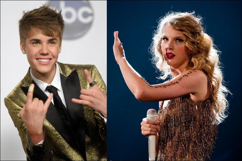 MOROKLUMP: Ifølge Access Hollywood lurer Justin Bieber Taylor Swift opp i stry i den nye sesongen av «Punk'd». Foto: AP