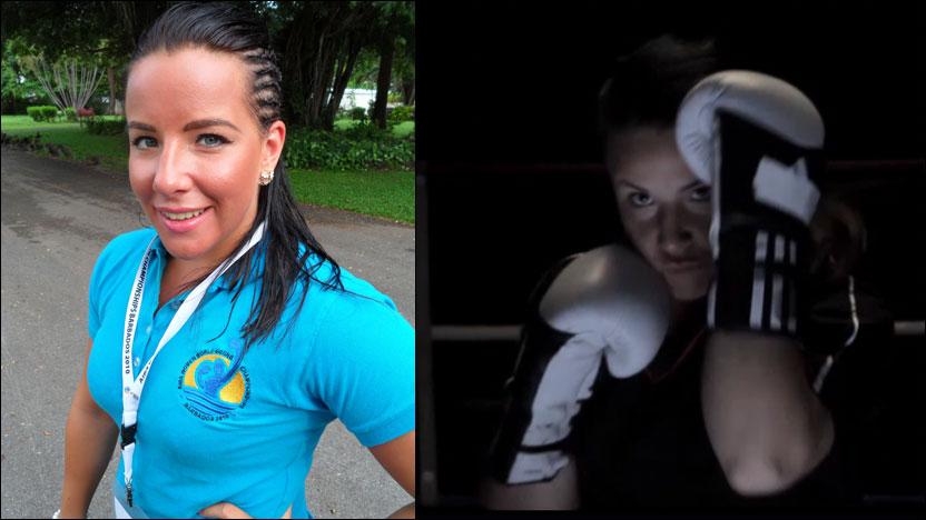 MEDALJEHÅP I OL: Lotte Lien er klar for ny kamp. Til høyre er et bilde fra dokumentarfilmen om den 23 år gamle trønderen. Foto: Privat og grab fra dokumentaren