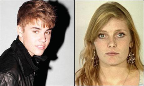 HAR SKAPT OVERSKRIFTER: Mariah Yeater (20) har hevdet at Justin Bieber (17) gjorde henne gravid i fjor høst, men han har nektet. Foto: Universal og AP