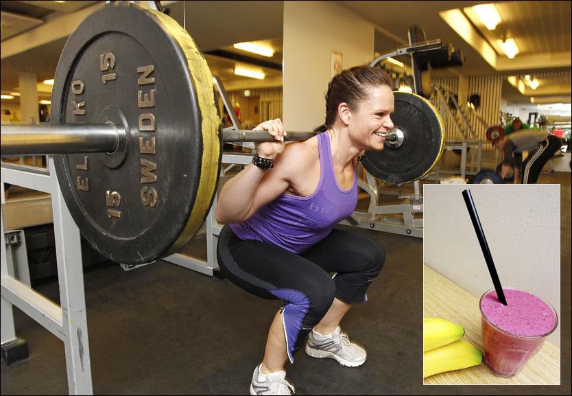MATVRAKER: Ernæringsfysiolog Therese Fostervold Mathiesen konstaterer at mosjonister bygger musklene bedre hvis de nøyer seg med å spise tre ganger om dagen. Foto: Scanpix