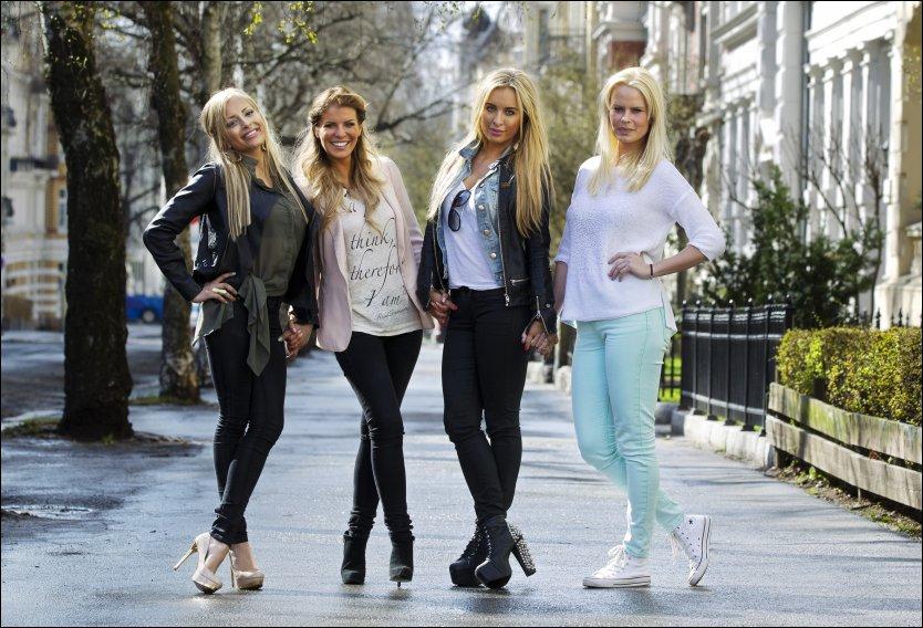 VOKSNE PIKER I TIGERSTADEN: (fra v) Linni Meister, Mari Haugersveen, Carina Dahl og Therese Haugsnes skal lage reality-liv