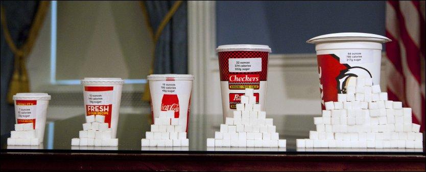 Ikke rart de er feite og syke i usa sjekk så mye sukker!