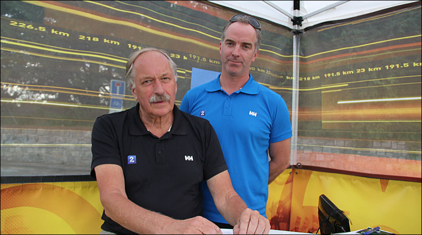 PREGET: Christian Paasche (t.h.) og Johan Kaggestad forteller om den spesielle sendingen for ett år siden. Foto: Anders K. Christiansen, VG.