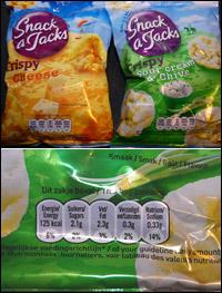 snacks med minst kalorier