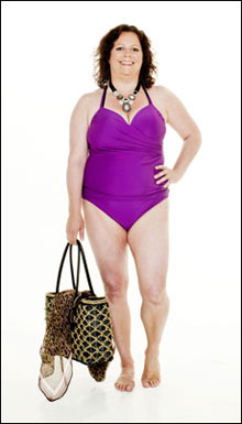 bikinitruse med høyt liv